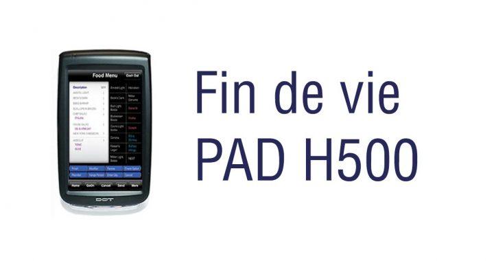 Le produit PAD H500 de face.
